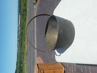 Large Antique Brass & Iron Preserve Jam Pan. In need of restoration