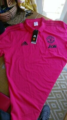 manchester united training polo adidas mens size xl brand new red