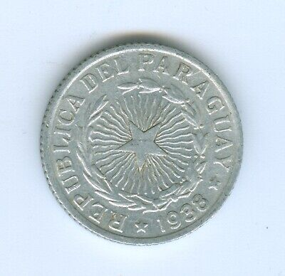 Paraguay 1938 Two Peso-Coin Circulated