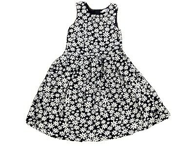 jasper conran JnrJ Navy/white Floral Girls Dress Age 7-8. Excellant Condition