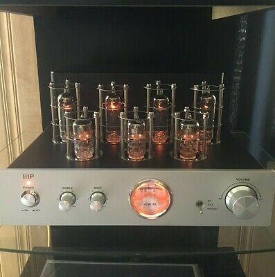 Monoprice Pure Tube Stereo Amplifier w/bluetooth & phone. Not a hybrid, ALL TUBE