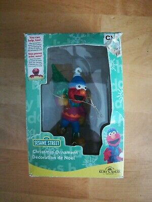 Sesame Street Elmo Christmas Ornament  By Kurt Adler 2007
