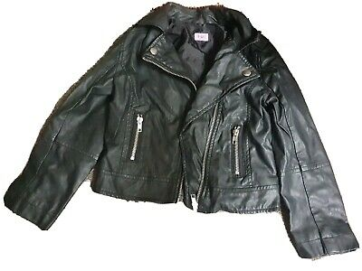 Girls Leather Coat Age 6-7