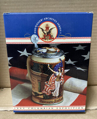 1991 Budweiser Archives Series 1893 COLUMBIAN EXPOSITION Stein Limited Edition