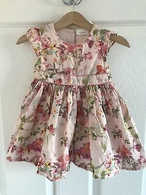 Next Baby Girl 2 Piece Floral Dress/knicker Set Age 6-9 Months