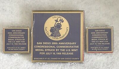 1969 San Diego 300th Anniversary National Mint Medals