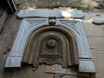 Lot of 4 Antique Marble Fireplace Surrounds Mantle Architectural Salvage REDUCED