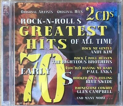 Rock n Roll's Greatest Hits of All Time Early 70s! 2 CDs Full of Hits!
