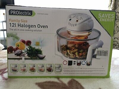 PROLECTRIX Halogen Oven Low Fat Fast Cook Healthy Air Fryer 12L Capacity New