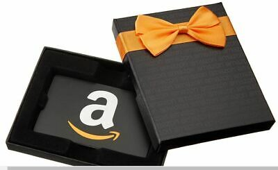 New Amazon $25 USD Value Physical Gift Card Fast Delivery in a Black Gift Box