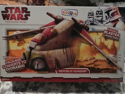 Star Wars The Clone Wars Republic Gunship Toys R Us Exclusive brand new