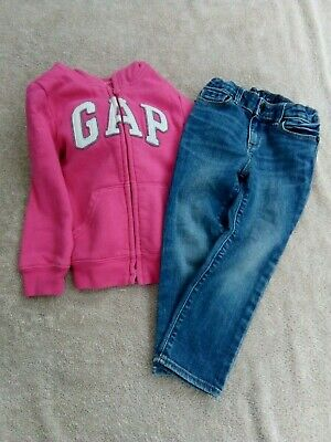 Girls jeans and jacket/hoodie by Gap 3 years