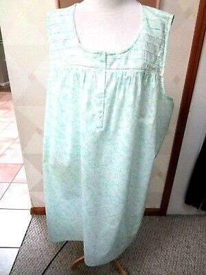 Croft & Barrow-Green & White-Floral-Sleeveless-Nightgown -Size-3X-Nwt-$32