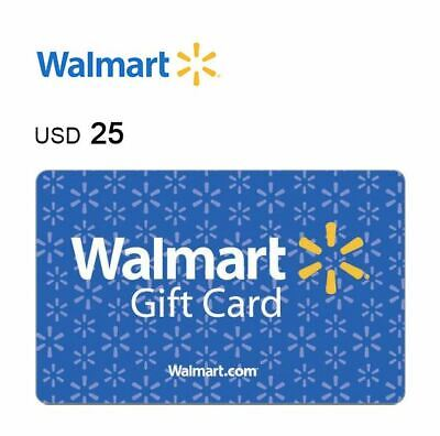 Walmart $25 Value Physical Fast Mail Delivered Gift Card  Use At Store or Online
