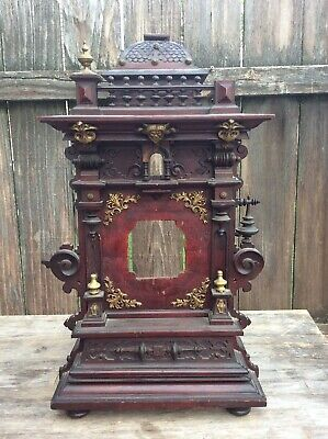 Large Unusual German Black Forest ? Shelf Clock Cuckoo Clock Case