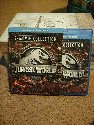 Jurassic World 5-Movie Collection (Blu-ray Disc) Chris Pratt with slipcover