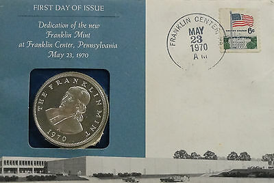 1970 Franklin Mint Dedication Medal, FDOI, BU, UNC, Silver, #6870