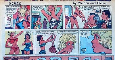 Soozi by Bob Oksner - Gernreich topless suit - Sunday comic page - Aug. 20, 1967