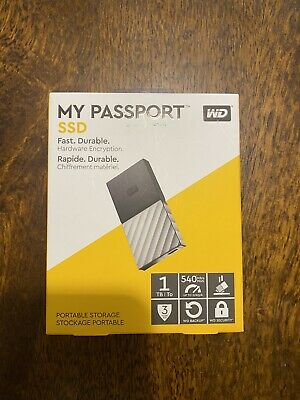 Western Digital WD My Passport 1TB SSD USB-C External Portable Storage. AU stock
