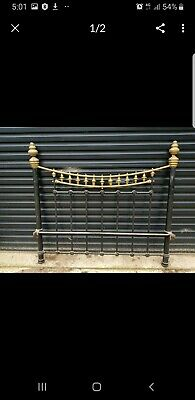 Antique Vintage Victorian Brass and Wrought Iron Double Bed
