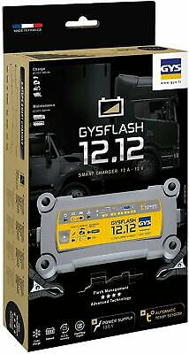 GYSFlash 12.12 -Fully Automatic Intelligent 8 Steps Smart Battery Charger 12V.