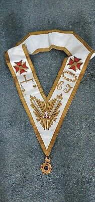 Vintage Rose Croix 31st Degree Collar