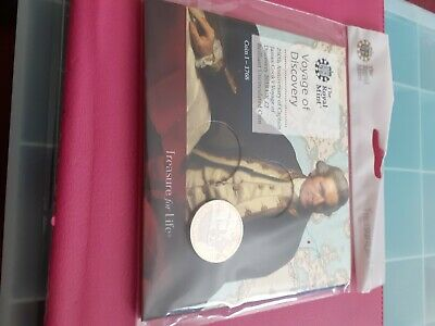 royal mint voyage of discovery 1st coin.captain james cook