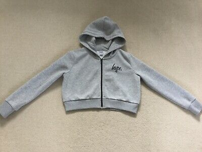 Girls Hype Grey Cropped Jumper/ Hoodie, Great Condition, Age 11-12