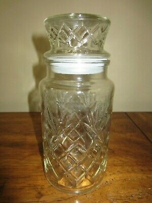 VINTAGE Planters Mr. Peanut Clear Pattern Glass Jar Lid By Anchor Hocking 1983