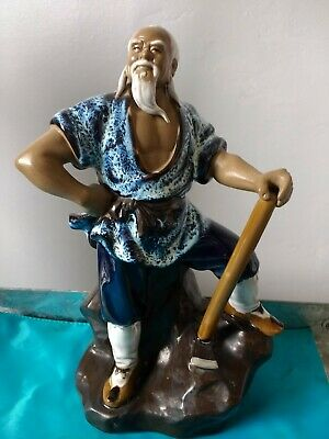"Vintage  shiwan Chinese Mudman figurine 9.5"" height"