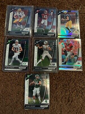2020 Panini Prizm Draft Picks QB Lot (7) Tua, Burrow, Herbert, Love + refractor