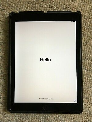 Apple iPad Air 2 16GB, Wi-Fi only Space Gray MGL12LL/A with Rotating Case