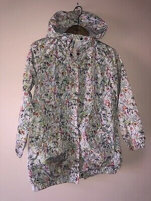 NEXT Girls Summer Rain Jacket Coat Cotton Lined Age 8 Years Excellent Condition