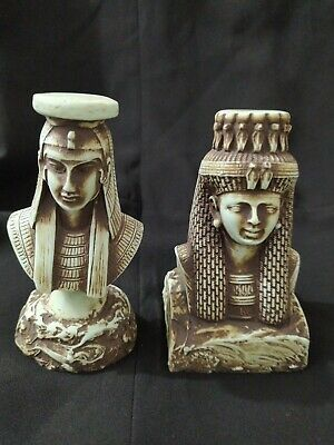 Rare Antique Ancient Egyptian Statue Queen Hatshepsut & Queen Cleopatra bc