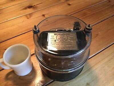 1920's Vintage Westinghouse  Differential Relay Antique Industrial Meter Glass
