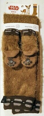Star Wars Petco - Chewbacca Sock set for Human Owner 6-12 and  Small Dog - Rare