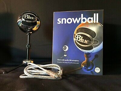 Blue Snowball USB Microphone - Brushed Aluminum - Excellent Condition