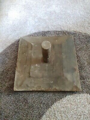 """Antique 10.5"""" x 10.5"""" Square  Wood HAWK with Wood Handle Drywall Compound Tool"""
