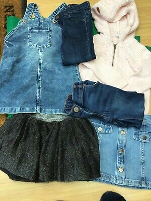 IMMACULATE BUNDLE  GIRLS CLOTHES PINAFORE DRESS/TuTu SKIRT/JEANS GAP 2/3 YEARS