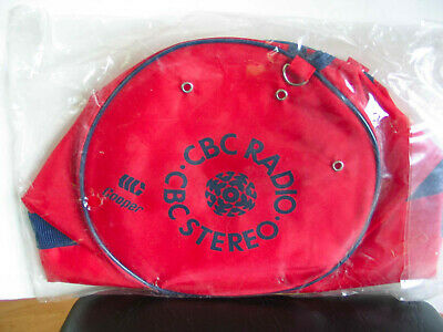 Canadian Broadcasting Corporation CBC Stereo Red Nylon Tote Bag NEW IN PKG