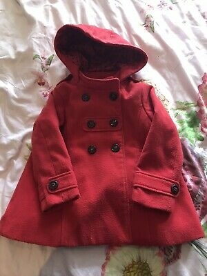 Red duffle School coat from Next, age 4-5