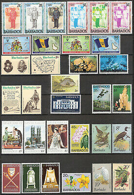 Barbados - Selection Mainly Mnh - 1971 Independence, 1977 Beauty, Jubilee, Etc.