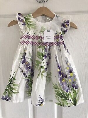 BNWT Next Baby Girl 2 Piece Floral Dress/knicker Set Age 3-6 Months
