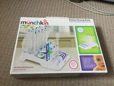 Bottle Drying Rack, Munchkin Deluxe Folds Flat For Storage. Fast Delivery