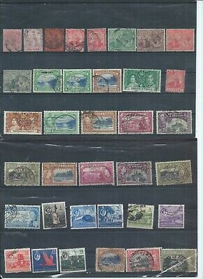 Trinidad & Tobago stamps Early used lot. 3 bottom right with thins/crease (J452)