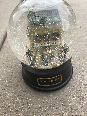 Givenchy Musical Christmas Snow Globe Snowdome Paris Winter In Paris Ltd Edition