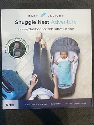 Baby Delight Snuggle Nest Adventure - Portable Infant Sleeper Gray