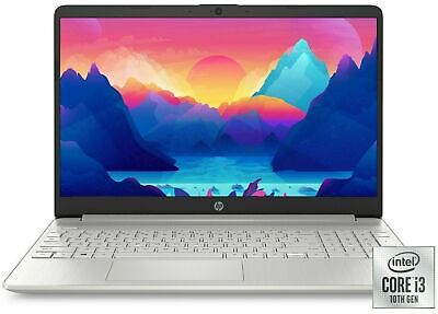 "NEW HP 15.6"" HD Intel 10th Gen i3-1005G1 3.4GHz 4GB RAM 128GB SSD Win 10 Laptop"