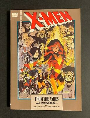 X-Men From the Ashes TPB • NM • 1st Print • 1990 • Signed w/ sketch Paul Smith