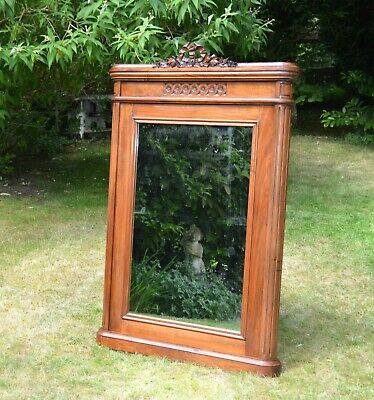 Large Antique French Mirror. Floor Standing / Wall. Louis XVI Style